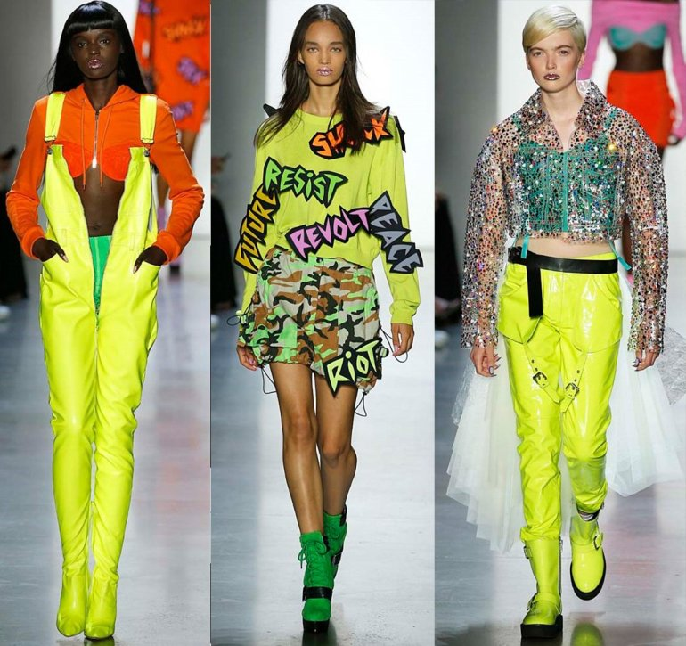2019 top fashion trends - neon